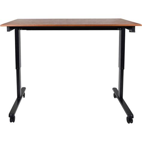 Crank Adjustable Desk by Luxor 60 Quot Crank Adjustable Stand Up Desk Standcf60 Bk Tk