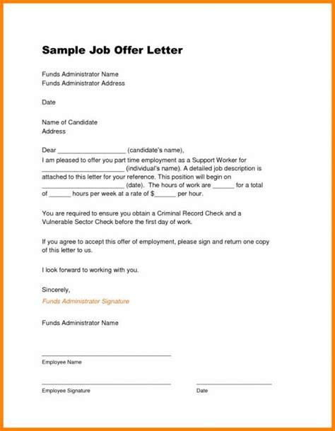 job offer letter template job offer template job offer