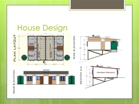 home blueprint design low cost housing presentation