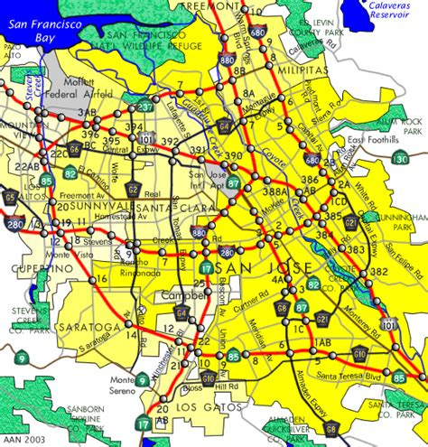 san jose safety map san jose map ca free printable maps
