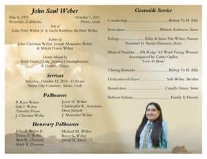 program for memorial service saul weber memorial graveside service program
