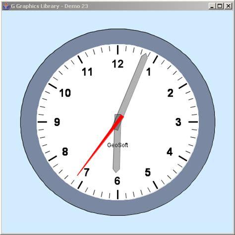 java timer swing clock animation 171 advanced graphics 171 java