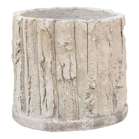 faux bois vintage french concrete faux bois round planter for sale