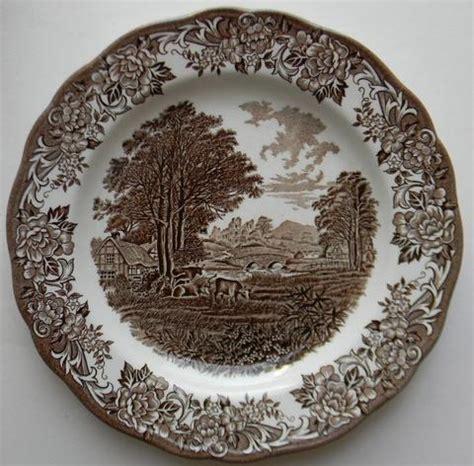 brown pattern dinnerware brown transferware