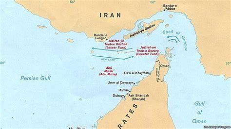 map of uae and iran iran uae island dispute could escalate