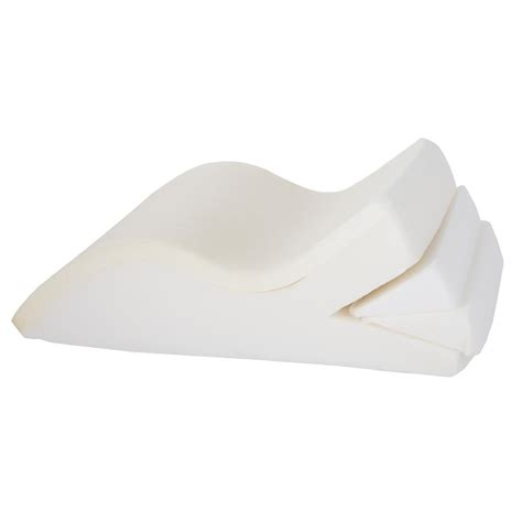 Adjustable Pillow Wedge by Bluestone Adjustable Leg Wedge Support Pillow With White