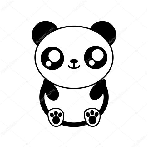 imagenes de pandas kawaii para dibujar oso panda kawaii cute animal icono vector de stock 169 djv