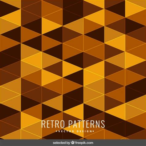 yellow pattern ai retro pattern in yellow tones vector free download