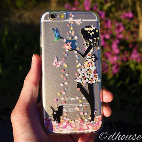 Softcase Flower Gril For Iphone5 made in japan soft clear flower cat for iphone 6 6s dhouse usa