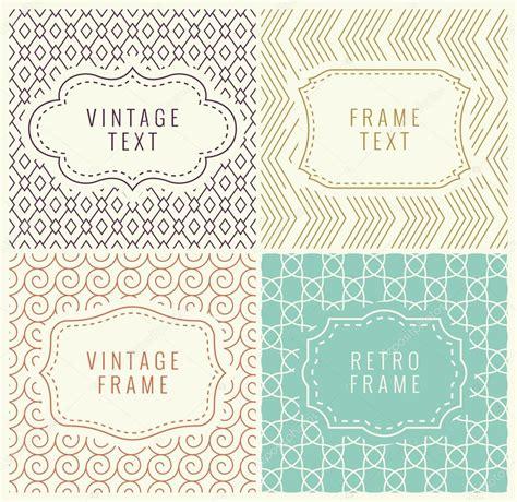 Etiketten Design Vorlage Retro Mono Linienrahmen Mit Platz F 252 R Text Vektor Design
