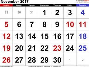 Calendar 2018 Special Days November Calendar 2017 Special Days 2018 Printable Calendars