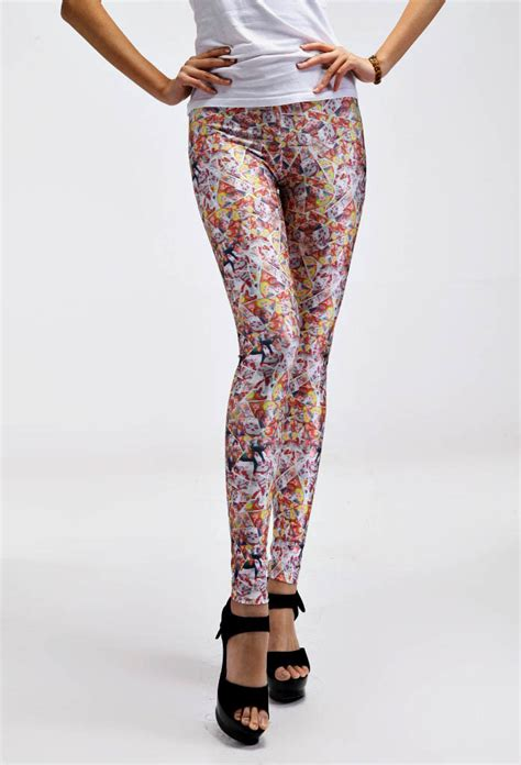 Crazy Patterned Leggings | colorful crazy print leggings fashionable patterned