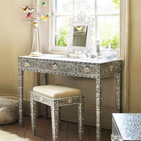Grey Vanity Table Maxi Of Pearl Console Table And Stool Dressing Tables Furniture Vanity
