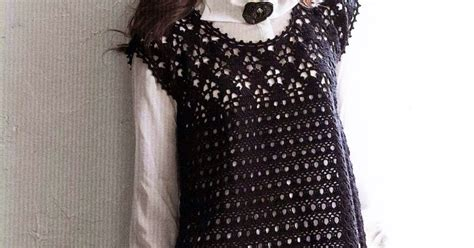 Tunic Fairuz croche black tunic crochet