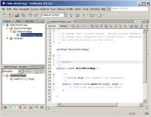 quot hello world quot for the netbeans ide the java tutorials