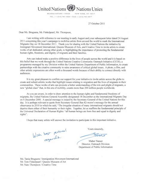 Official Thank You Letter For Support