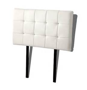 pu leather single bed deluxe headboard bedhead white