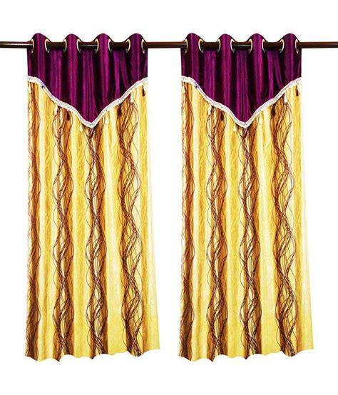 flap curtains spiral design curtain purple beige with flap 4 pcs set