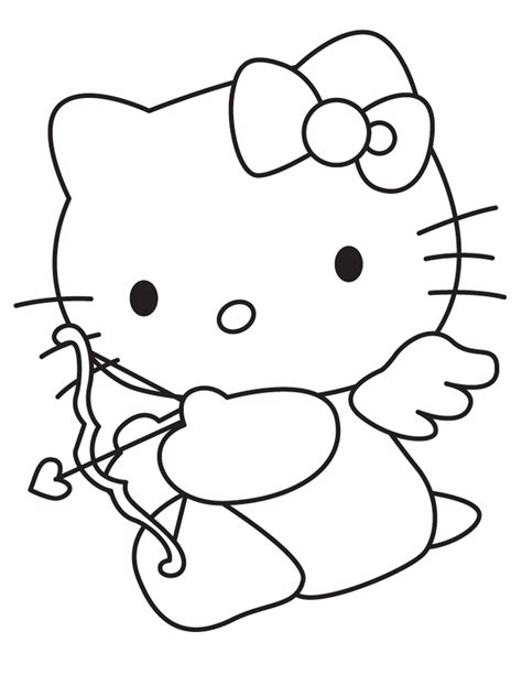 kitten valentine coloring page free hello kitty valentine coloring pages coloring home