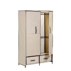 honey can do door wardrobe with two drawers wrd