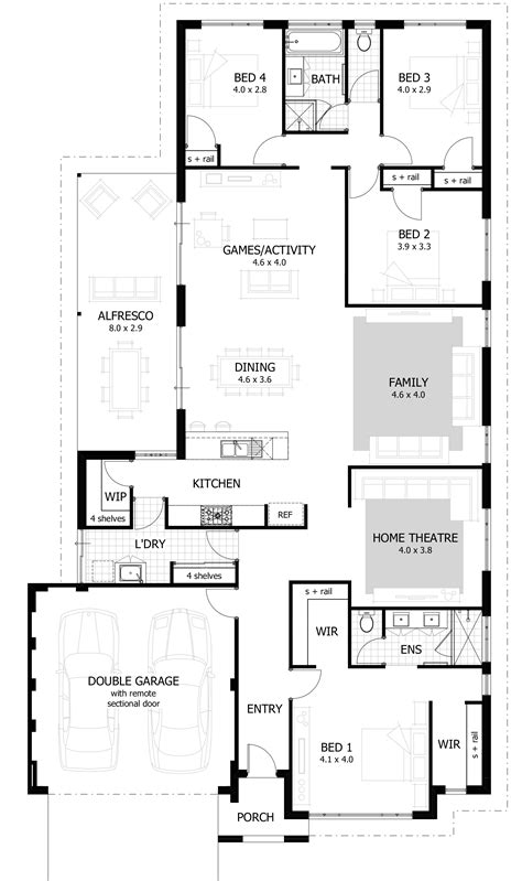 home plan 4 bedroom house plans home designs celebration homes