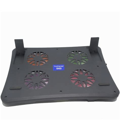 notebook cooling pad computer radiator 4 fan s60 black