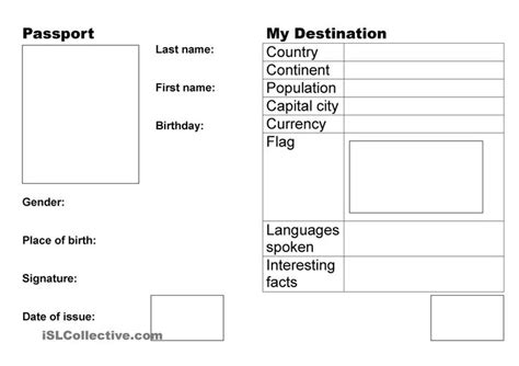 passport academic ideas pinterest worksheets