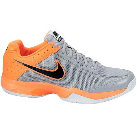 nike air cage court s tennis shoe grey orange black