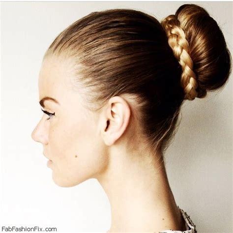 chongo or ponytail hair braided bun hairstyle tutorial fab fashion fix
