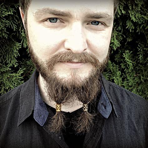 beaded goatee 5 bead beard bead kit beard rings viking beard biker