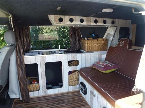vw  camper conversion mdf board  wall paper vw