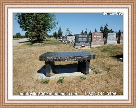 headstone benches memorial benches