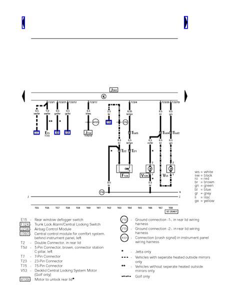 mk4 golf central locking wiring diagram wiring diagram