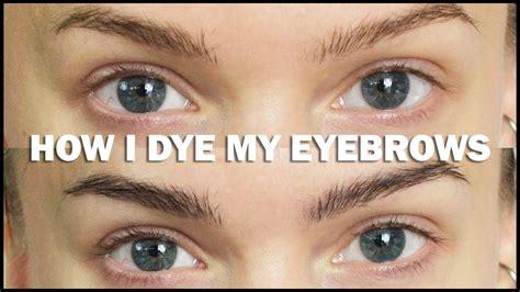 how i dye my eyebrows hallberg make up tutorials