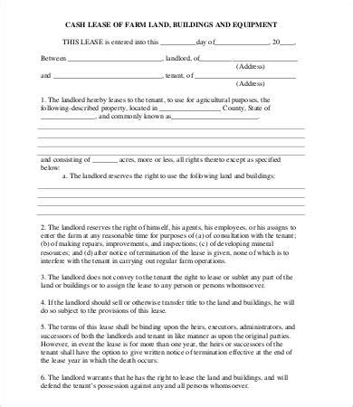 farm lease agreement template land lease agreement template 8 free word pdf