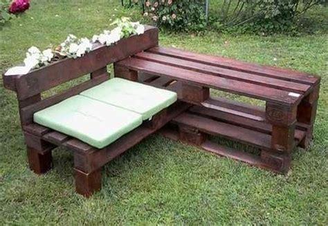 panchine giardino panchine da giardino economiche in pallet di legno bcasa