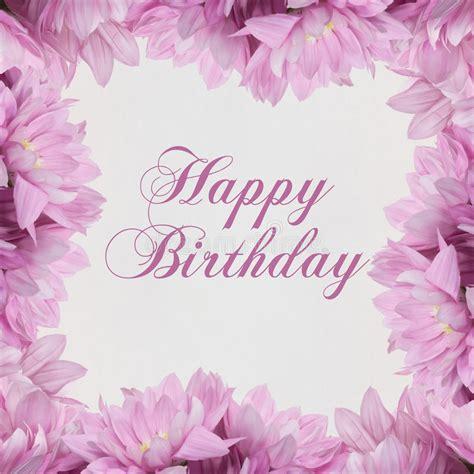 buon compleanno con i fiori scheda di buon compleanno con i fiori illustrazione di