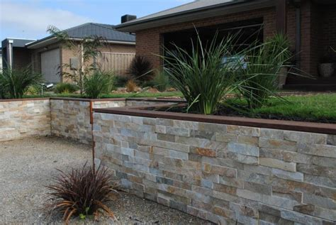 Quartzite Tawny Stacked Stone Cladding Melbourne Stacked Garden Wall Cladding