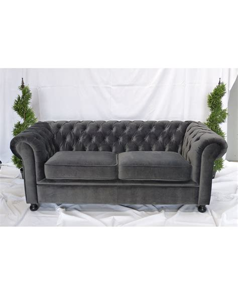 gray velvet chesterfield sofa grey velvet chesterfield style 3 seater sofa city