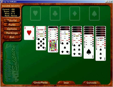 top ten solitaire   solitaire card game