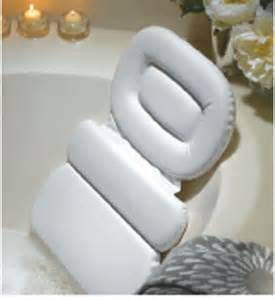 spa bath pillow in tub caddies and accessories