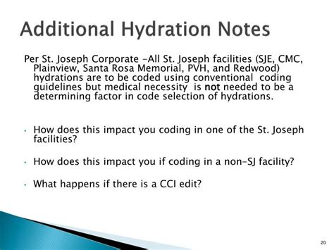 hydration notes ppt injection infusion coding how what and why