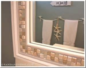 how to frame a bathroom mirror with mosaic tiles 30 amazing diy decorative mirrors pretty handy