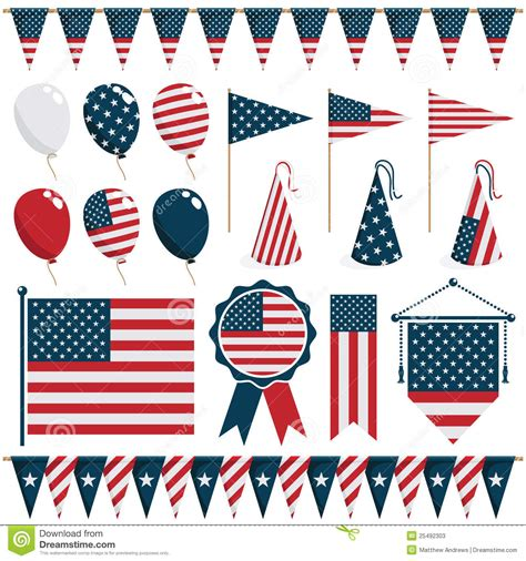 decorations us usa decorations stock photos image 25492303