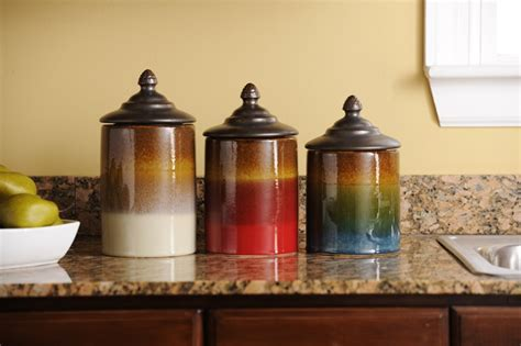 colorful kitchen canisters logischo com 35 best pottery canister sets images on pinterest