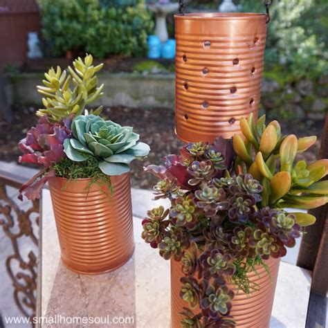 Lantern Planter by Recycled Tin Can Lantern Planter Reduce Reuse Decor