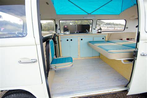 volkswagen van inside cer van conversions interior bed down pinteres