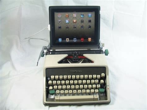 usb desk accessories usb typewriter olympia portable desk accessories by etsy