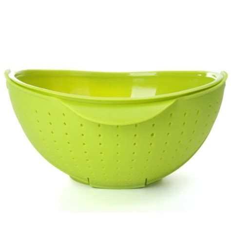 Mangkok Bowl rinse bowl and strainer wadah mangkok saringan green jakartanotebook