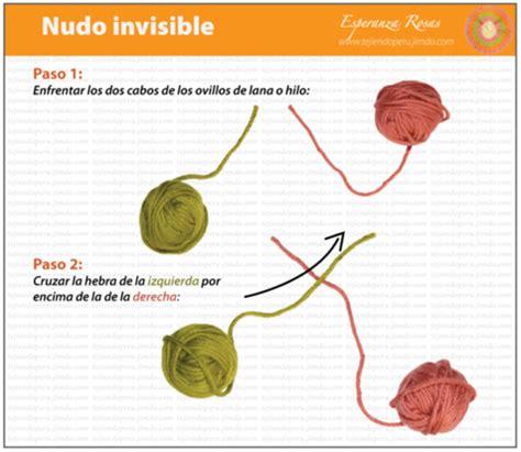 nudo invisible para bolillos patrones crochet